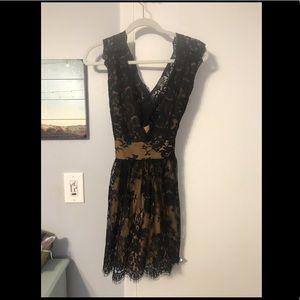Free people never worn lace black dress